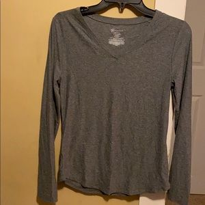 Brand new v-neck heather grey shirt